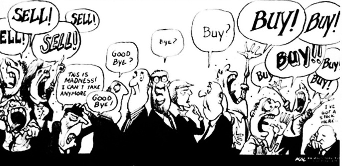 stock market cartoon bottom