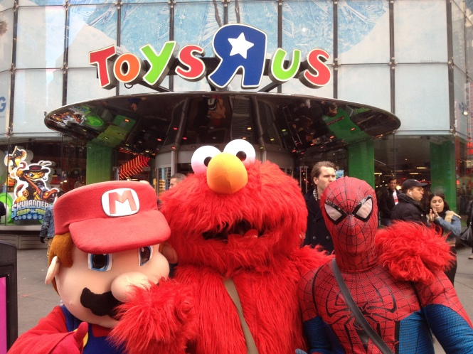 Outside Toys R Us, Times Square, New York. Photo; Richard Davies