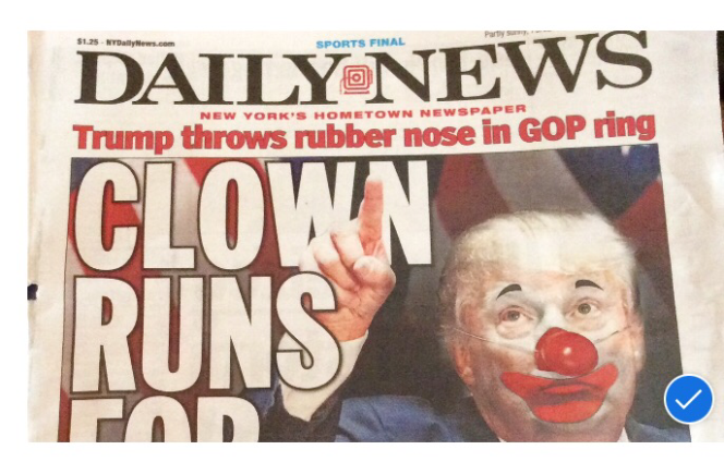 Sure it s easy to make fun of donald trump the front page of the